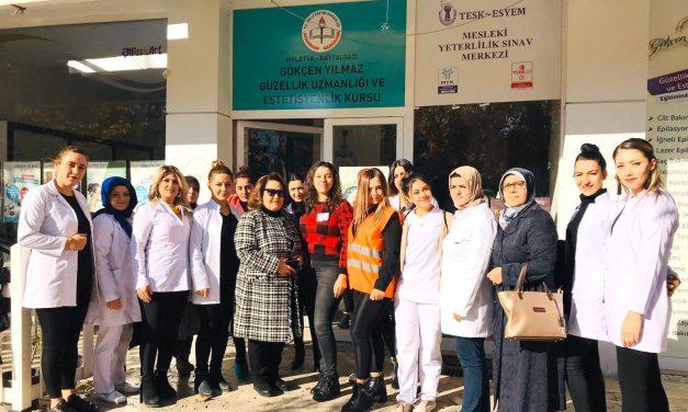 TESK-ESYEM Malatya'da Epilasyon Uzmanı Sınavlarına Devam Ediyor.
